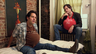 Paul Rudd & Bill Hader, pregnant together