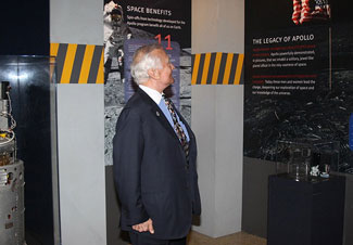 Buzz Aldrin at the Air & Space Museum