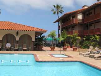 La Jolla Shores Hotel is one of San Diego's few beachfront places to stay.