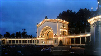 Thousands of visitors visit Balboa Park to watch world class organists perform at the pavilion.