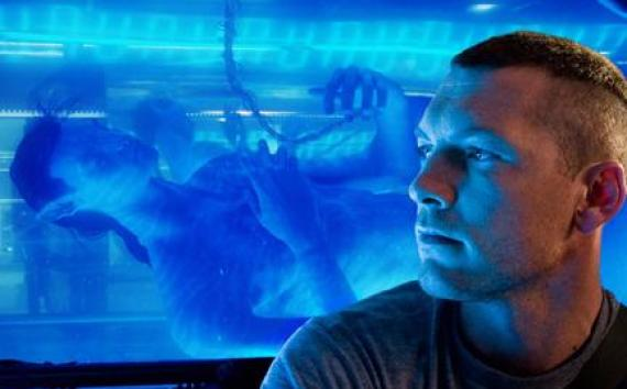 "Sam Worthington as Jake Sully in ""Avatar."""