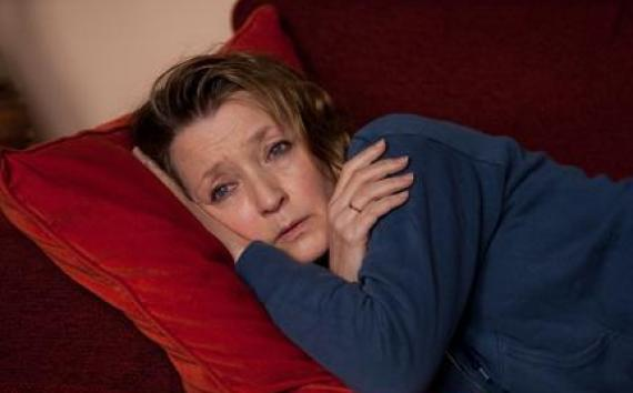 "Lesley Manville as Mary in ""Another Year."""
