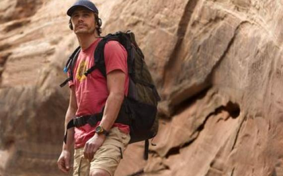 "James Franco as Aron Ralston in ""127 Hours."""
