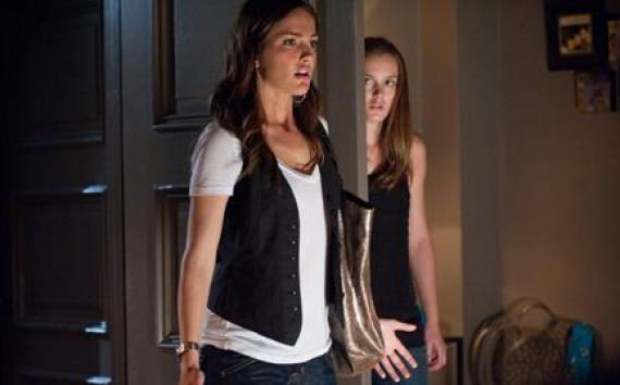 "(L-R) Minka Kelly and Leighton Meester in ""The Roommate."""
