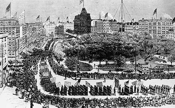 1882 Labor Day Parade, Union Square, NY