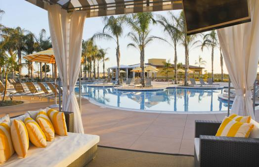 The MarBrisa Carlsbad Resort Poolside Cabana