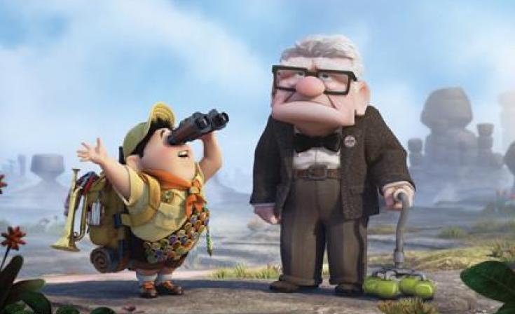 "(L-R) Russell and Carl in ""Up."""