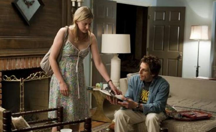 "(L-R) Greta Gerwig as Florence and Ben Stiller as Roger in ""Greenberg."""