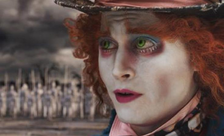 """Johnny Depp as The Mad Hatter in """"Alice in Wonderland."""""""