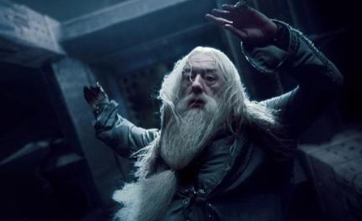 """Michael Gambon as Dumbledore in """"Harry Potter and the Deathly Hallows: Part 1."""""""