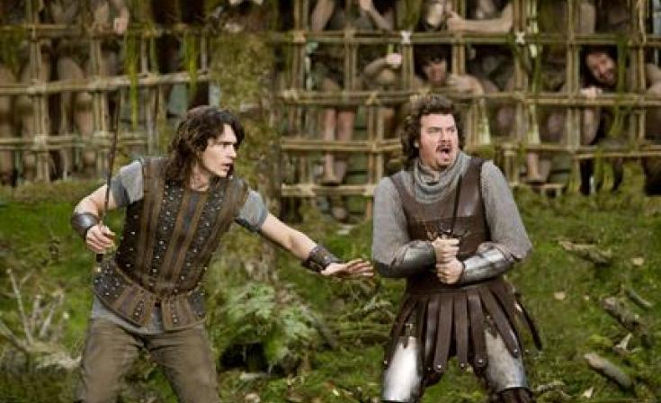 """(L-R) James Franco as Fabious and Danny McBride as Thadeous in """" Your Highness."""""""