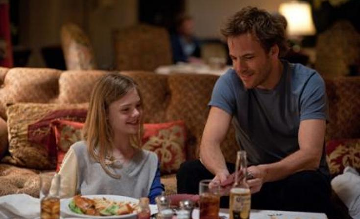 "(L-R) Elle Fanning as Cleo and Stephen Dorff as Johnny Marco in ""Somewhere."""