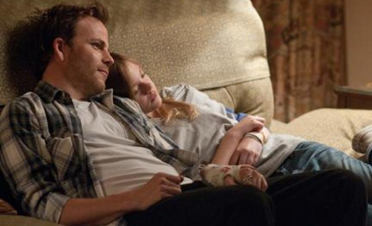 "(L-R) Stephen Dorff as Johnny Marco and Elle Fanning as Cleo in ""Somewhere."""