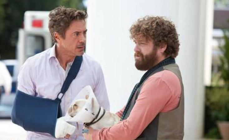 "(L-R) Zach Galifianakis as Ethan and Robert Downey Jr. as Peter in ""Due Date."""