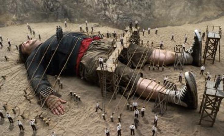 "Jack Black as Lemuel Gulliver in ""Gulliver's Travels."""