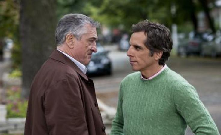 "(L-R) Robert De Niro as Jack and Ben Stiller as Greg in ""Little Fockers."""
