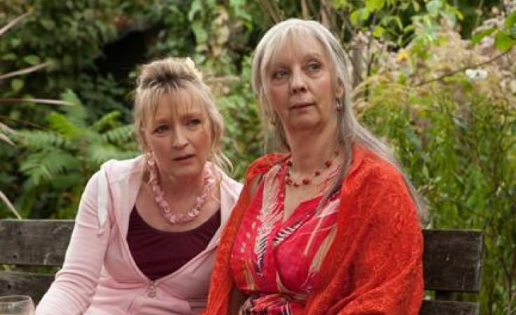 """(L-R) Lesley Manville as Mary and Ruth Sheen as Gerri in """"Another Year."""""""