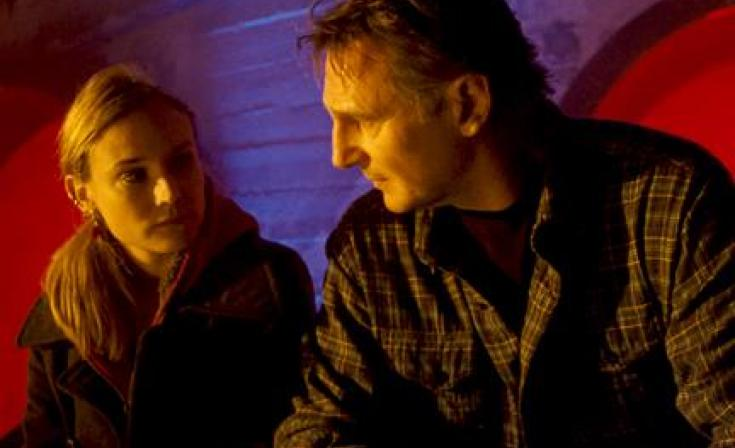 "Diane Kruger as Gina and Liam Neeson as Dr. Martin Harris in ""Unknown."""