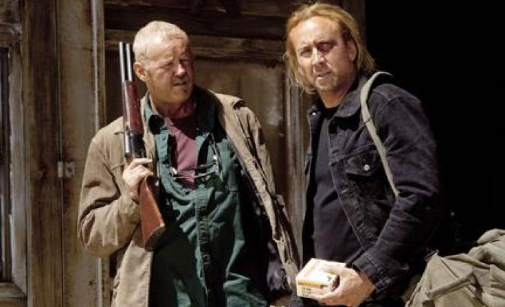 """(L-R) David Morse and Nicolas Cage as Milton in """"Drive Angry."""""""