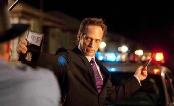 """William Fichtner as The Accountant in """"Drive Angry."""""""