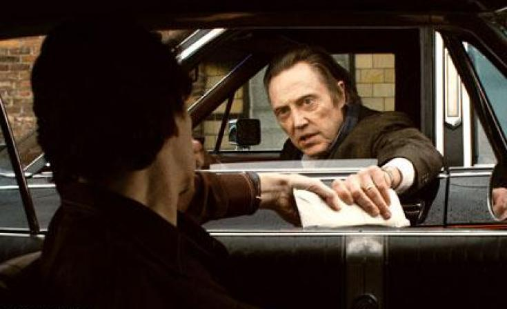 "Christopher Walken as Shondor Birns in ""Kill the Irishman."""