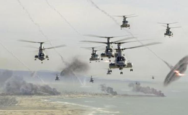 """A scene from the film """"Battle: Los Angeles."""""""