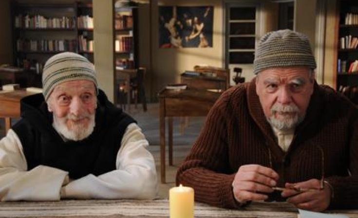 """(L-R) Jacques Herlin as Amde and Michael Lonsdale as Luc in """"Of Gods and Men."""""""