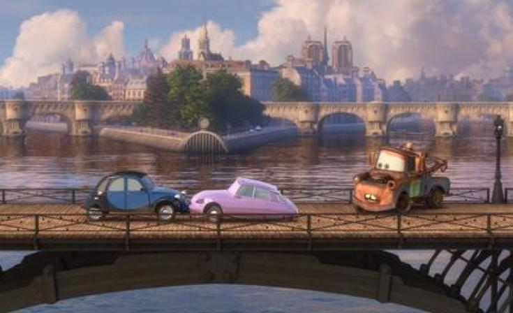 """Mater (right) in """"Cars 2."""""""