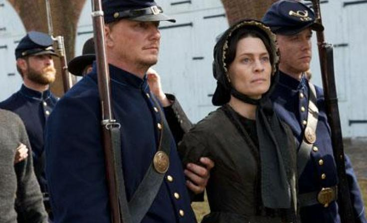 "Robin Wright as Mary Surratt in ""The Conspirator."""