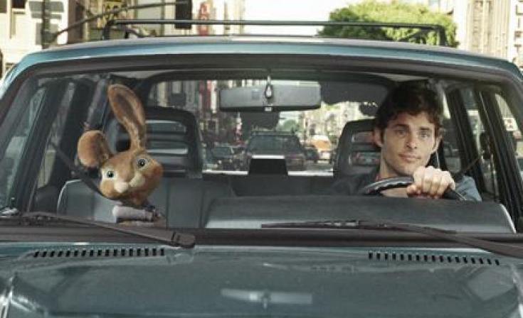 """(L-R) E.B. and James Marsden as Fred in """"Hop."""""""