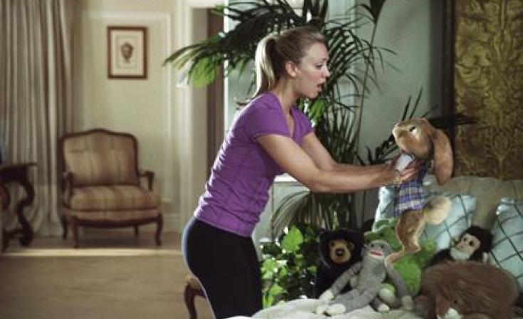 "Kaley Cuoco as Samantha O'Hare and E.B. in ""Hop."""