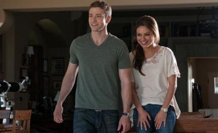 """Justin Timberlake as Dylan and Mila Kunis as Jamie in """"Friends with Benefits."""""""