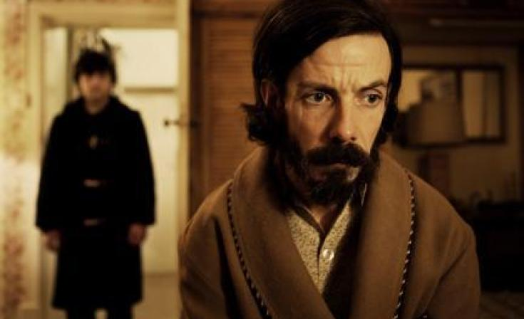 "(L-R) Craig Roberts as Oliver Tate and Noah Taylor as Lloyd in ""Submarine."""