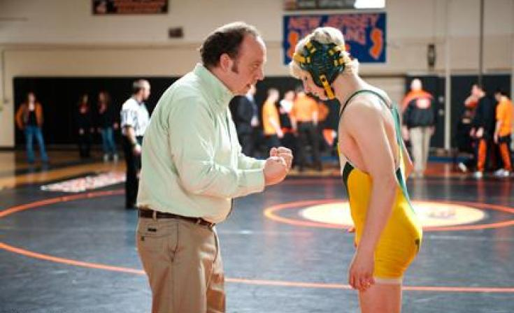 """Paul Giamatti as Mike Flaherty and Alex Shaffer as Kyle Timmons in """"WIn Win."""""""
