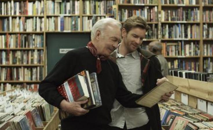 "Christopher Plummer as Hal and Ewan McGregor as Oliver in ""Beginners."""