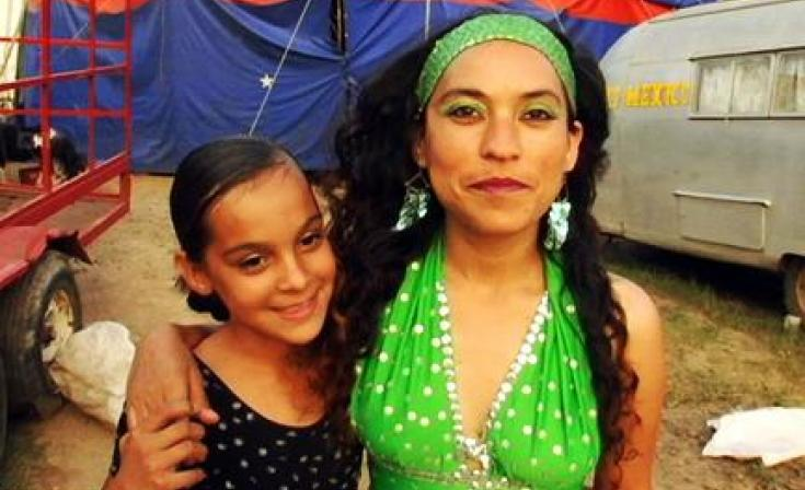 "(L-R) Alexia Ponce and Reyna Ponce in ""Circo."""