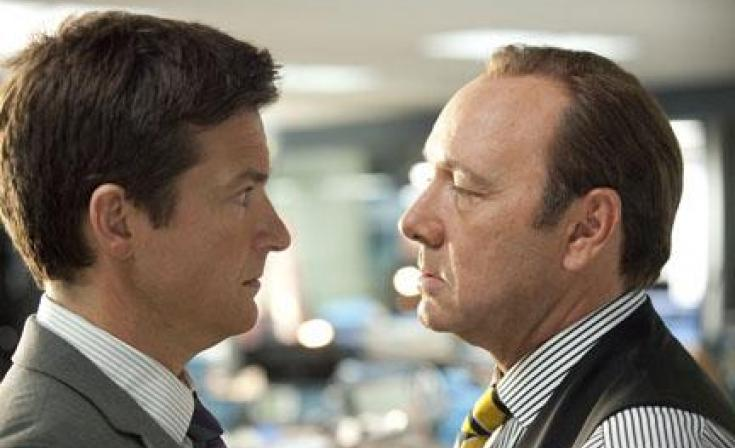 """(L-R) Jason Bateman as Nick and Kevin Spacey as Harken in """"Horrible Bosses."""""""