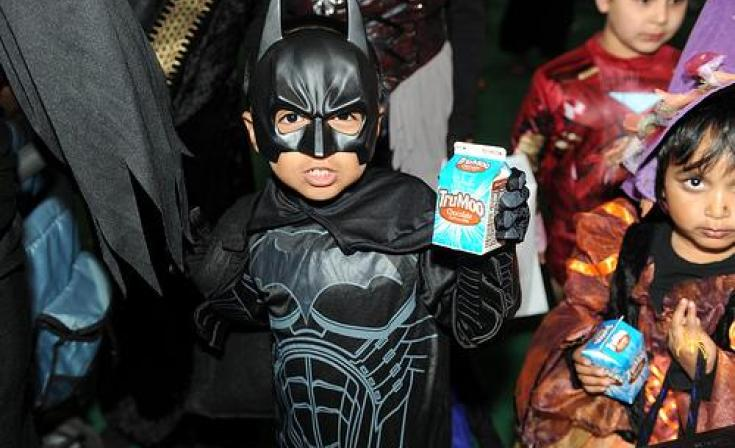 Batman with candy