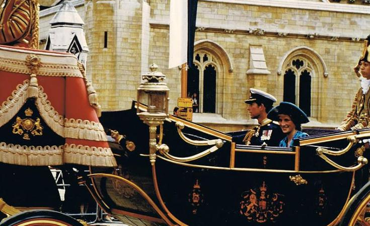 The Prince & Diana after the wedding of Prince Andrew & Sara
