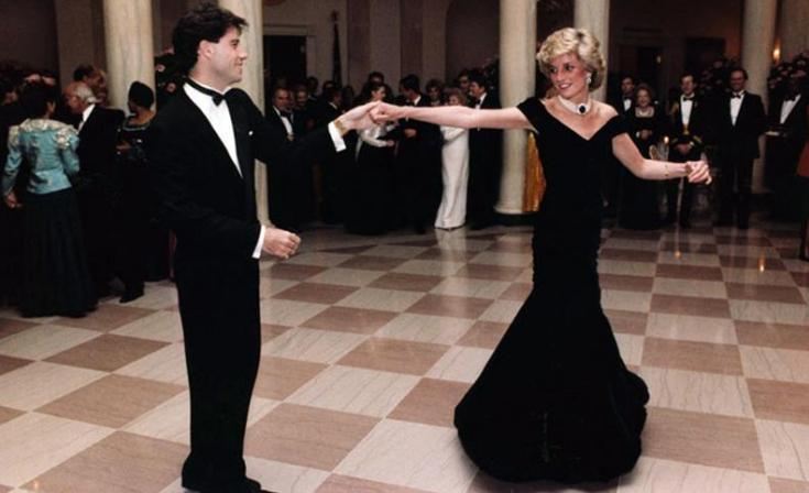 John Travolta & Diana dancing at the White House