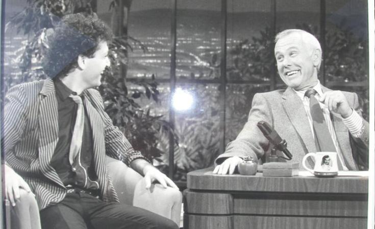Howie Mandel with Johnny Carson