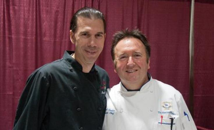 Chefs Ron Oliver and Bernard Guillas