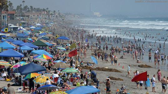 Oceanside Beach in the Summer California
