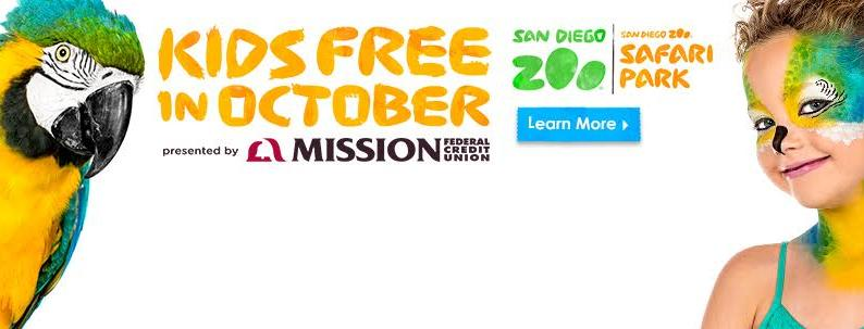 San Diego Zoo Kids Free in October 2016
