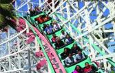 Giant Dipper Roller Coaster at Belmont Park San Diego California
